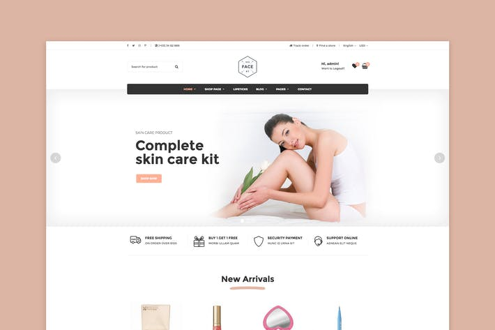 Thumbnail for Vicky - Cosmetic WooCommerce WordPress Theme