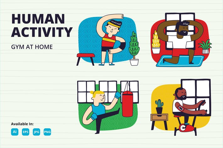 Thumbnail for Stay fit at Home, Home Gymnastic series