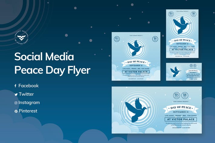Thumbnail for Peace Day Social Media Template
