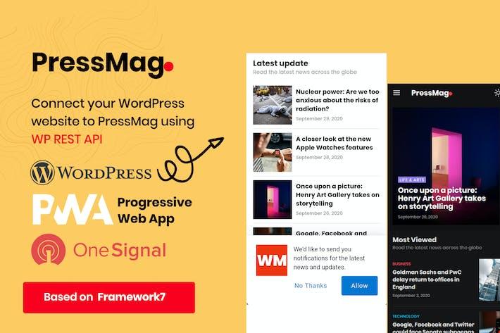 PressMag - News & Magazine PWA Mobile Template