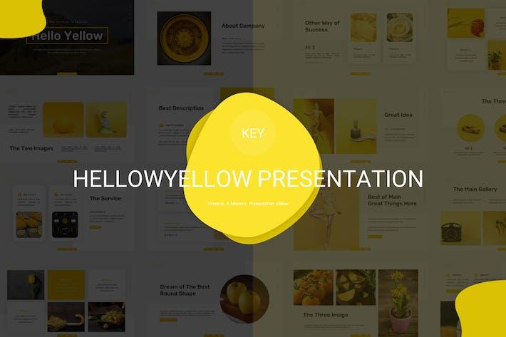 Thumbnail for Hello Yellow - Шаблон ключевых заKeynote