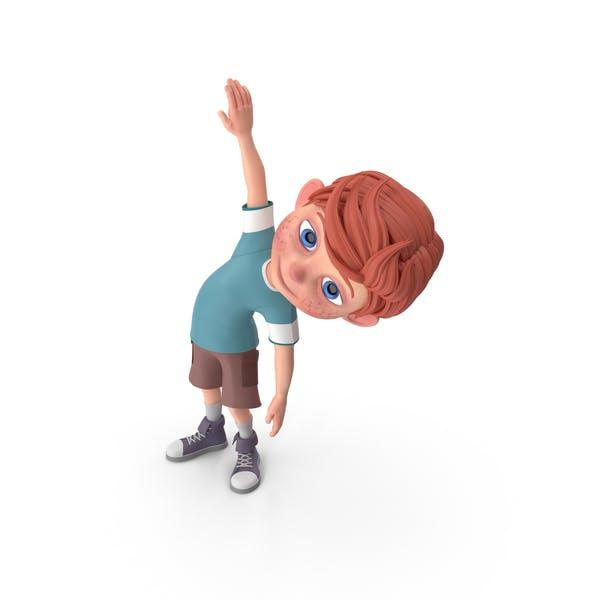 Thumbnail for Cartoon Boy Charlie Doing Aerobics
