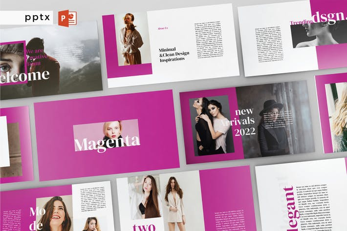 Cover Image For MAGENTA - Multipurpose Powerpoint  V198
