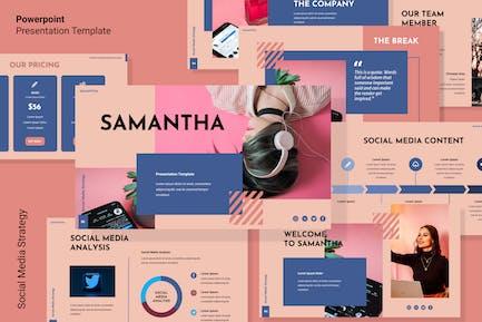 Шаблон Powerpoint стратегии социальных сетей