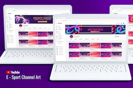 E-Sport Youtube Channel Art