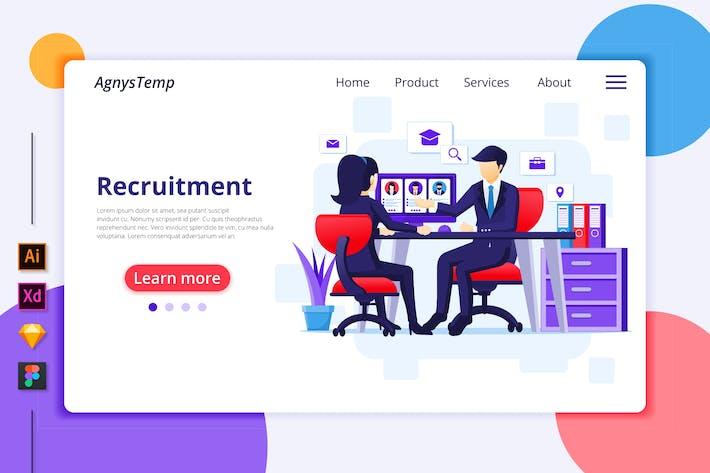 Thumbnail for Recruitment Illustration - Agnytemp