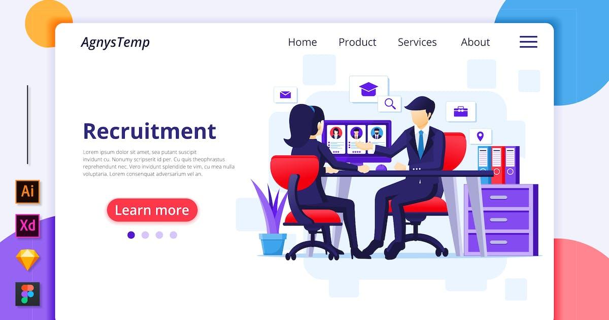 Download Recruitment Illustration - Agnytemp by GranzCreative