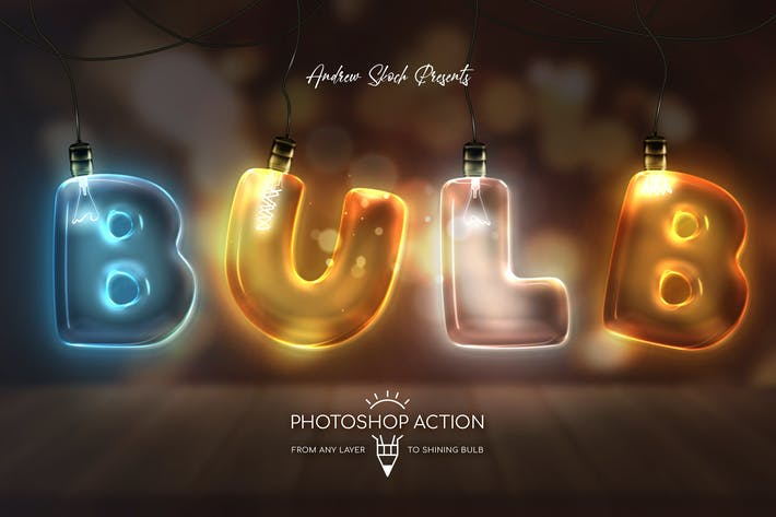 Thumbnail for Light Bulb - Photoshop Action