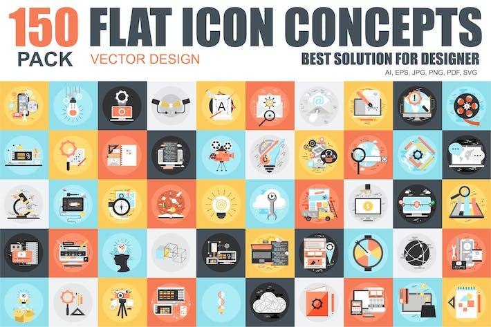 Thumbnail for Íconos planos conceptuales