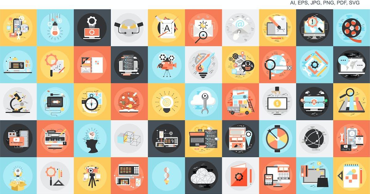 Download Conceptual flat icons by alexdndz