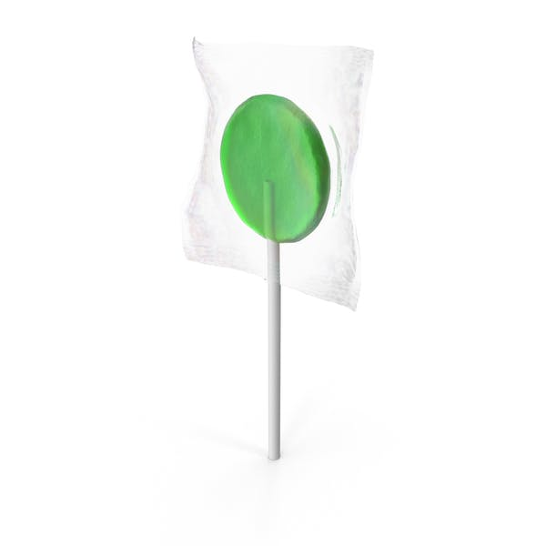 Thumbnail for Wrapped Flat Lollipop Green