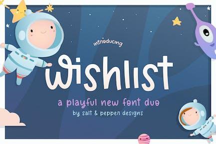 Wishlist Font Duo