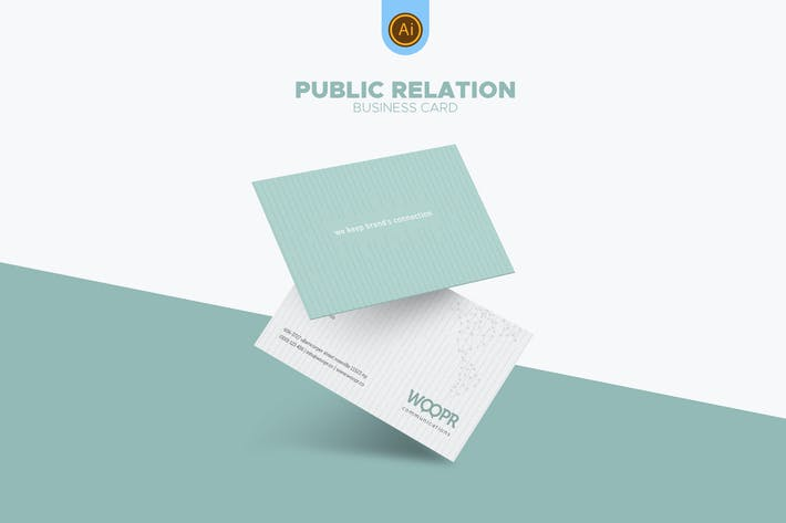 Thumbnail for PR Marketing Business Card 04