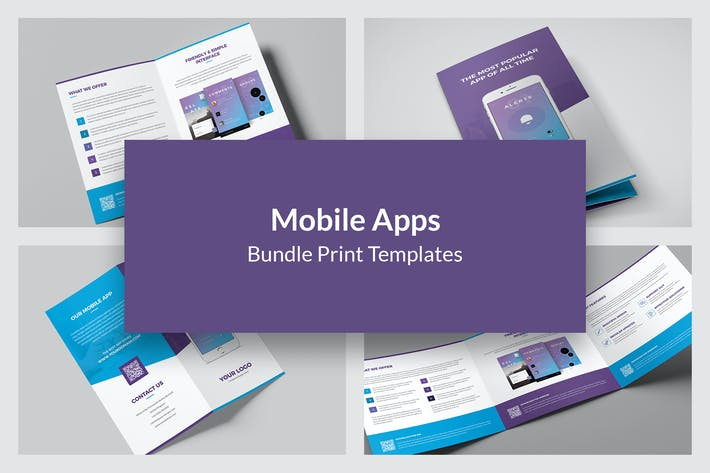 Thumbnail for Mobile Apps – Bundle Print Templates