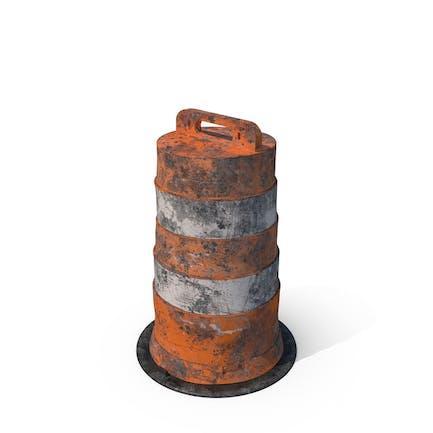 Barricada de barril sucio