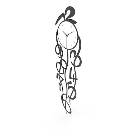 Dropping Figures Wall Clock