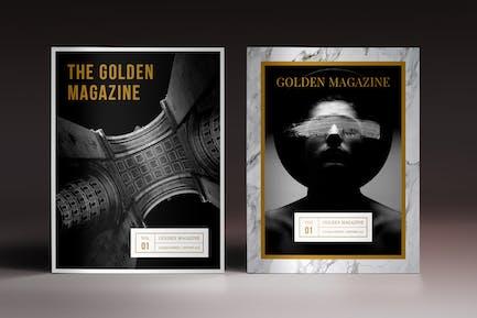The Golden Magazine Template