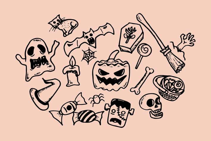 Thumbnail for Halloween Doodles Collection