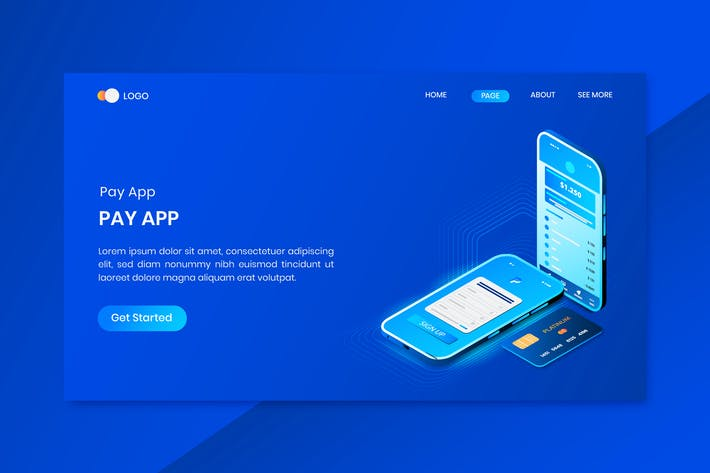 Thumbnail for Online Payment Application Isometric Concept