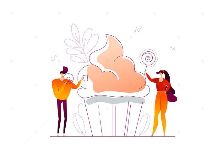 Thumbnail for Confectionary - flat design style illustration