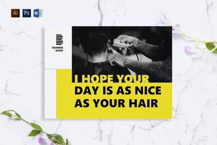 Thumbnail for Carte de vœux Barbershop