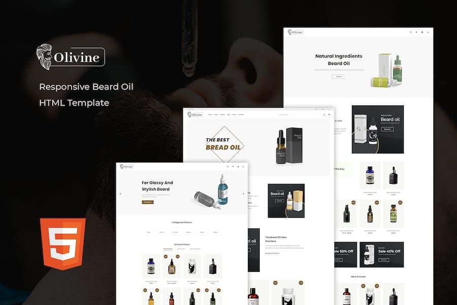 Olivine - Beard Oil HTML Template
