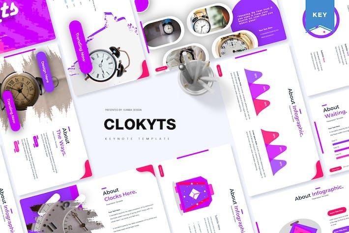 Thumbnail for Clockyts | Keynote Template