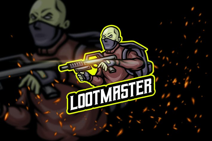 Thumbnail for Loot Master - Shooter eSport Logo Template