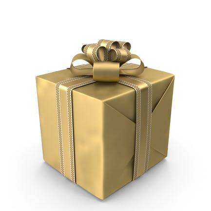 Goldene Geschenkbox
