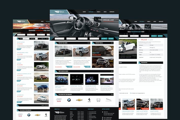 Thumbnail for Orthon - Auto Dealer Website PSD Template