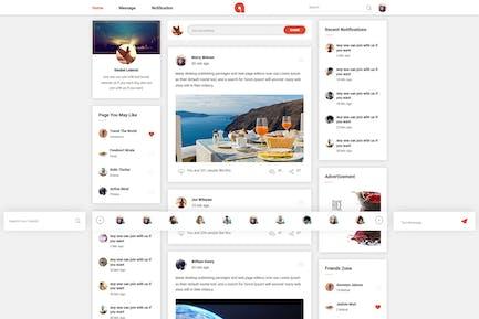 Adda - Social Network HTML Vorlage