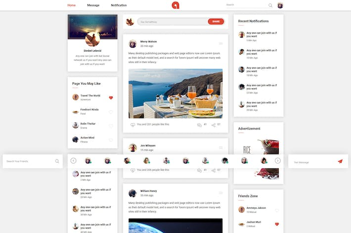 Thumbnail for Adda - Social Network HTML Template