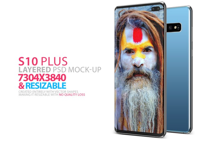 Cover Image For Layered S10 Plus PSD Mock-up