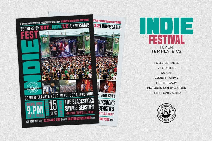 Thumbnail for Indie Fest Flyer Template V2