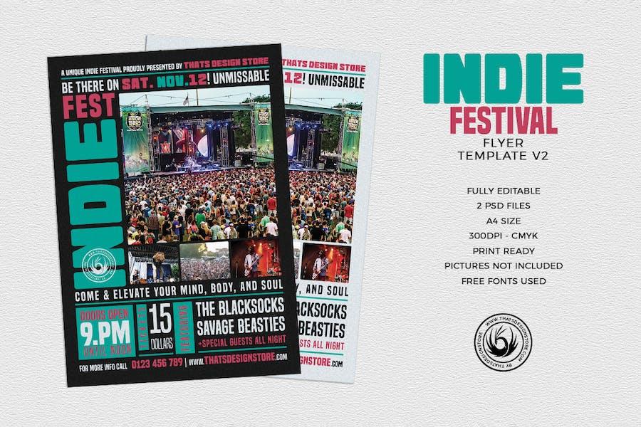 Indie Fest Flyer Template V2