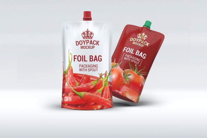 Thumbnail for Doypack Foil Bag Mock-Up v.2