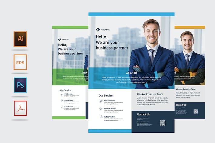 Thumbnail for Творческий бизнес-Флаер - Rantautemp