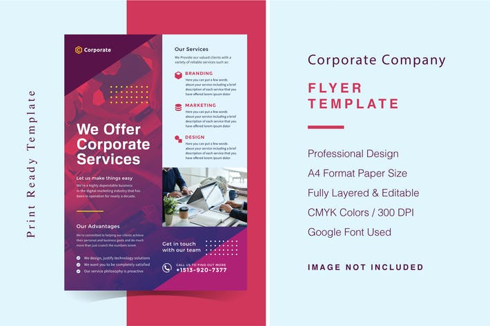 Thumbnail for Corporate Company Flyer Template
