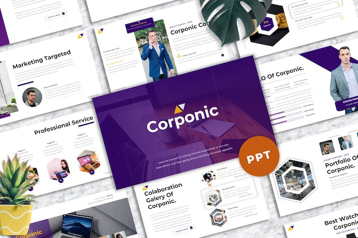 Thumbnail for Corponic - Business Powerpoint Template