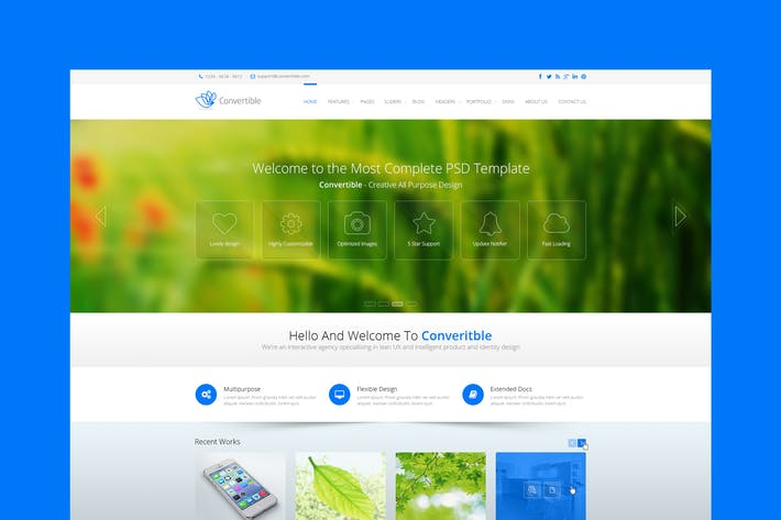Thumbnail for Convertible - Premium Multipurpose PSD Template