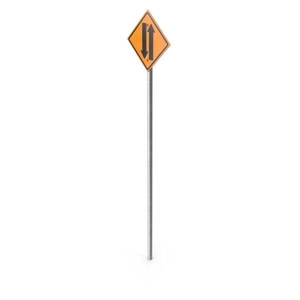 Zwei-Wege-Straßenschild