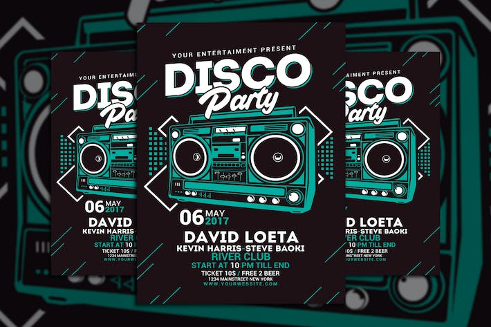 Thumbnail for Disco Party Flyer