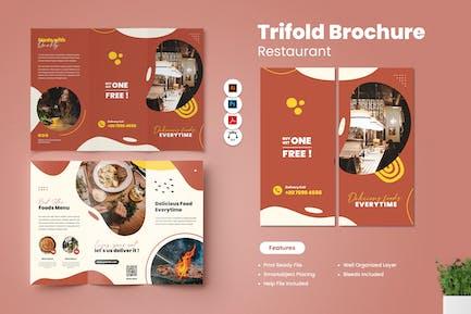 Restaurant Trifold Broschüre