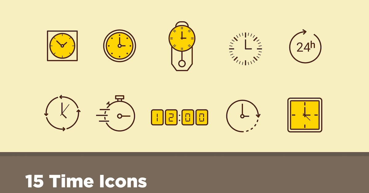 Download 15 Time Icons by creativevip