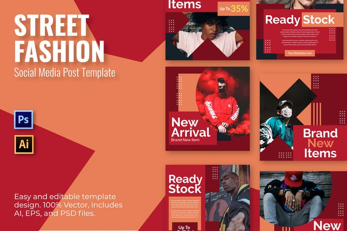 Streetwear Item Social Media Template