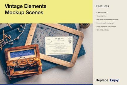 Vintage Elements - Mockup & Styled
