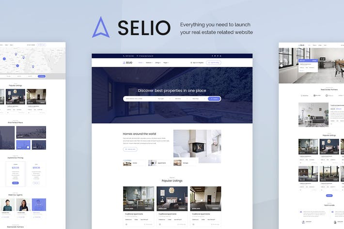 Thumbnail for Selio - Real Estate PSD Template