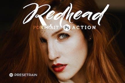 Redhead Photoshop Action