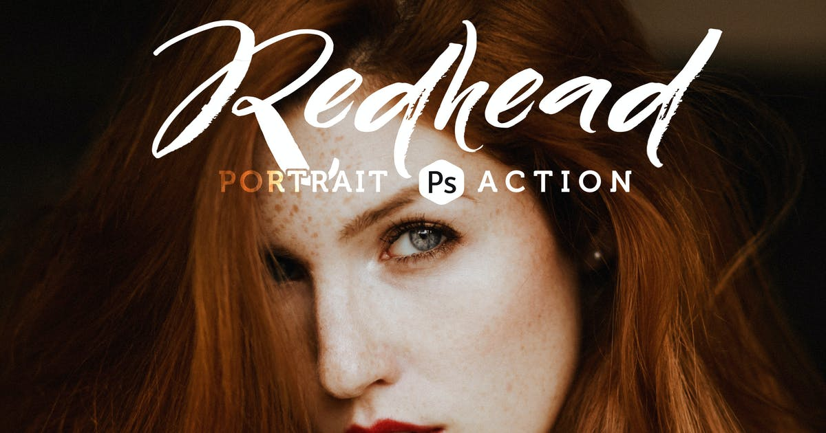 Redhead Photoshop Action by Presetrain
