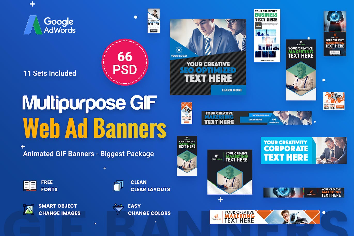 Animated GIF Multipurpose Banner Ad - 24 PSD by iDoodle on For Animated Banner Template